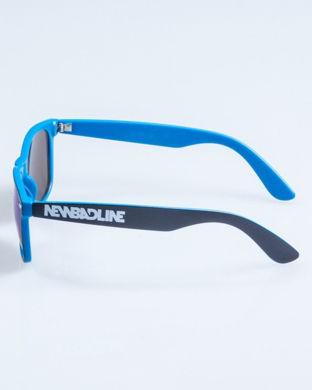 OKULARY CLASSIC INSIDE BLACK-BLUE MAT BLUE MIRROR 755