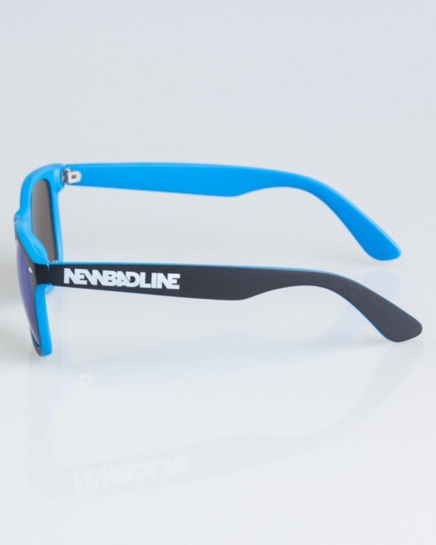 OKULARY CLASSIC INSIDE BLACK-LIGHT BLUE MAT BLUE MIRROR 1337