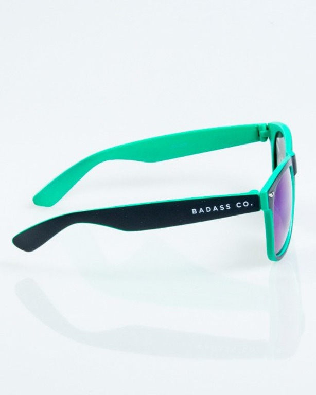 OKULARY CLASSIC INSIDE BLACK-MINT MAT GREEN MIRROR 1039