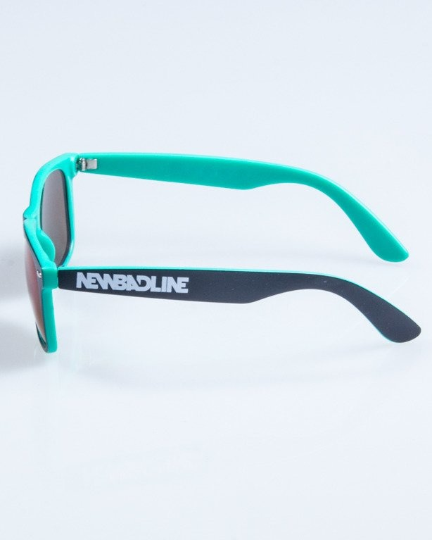 OKULARY CLASSIC INSIDE BLACK-MINT MAT GREEN MIRROR 754