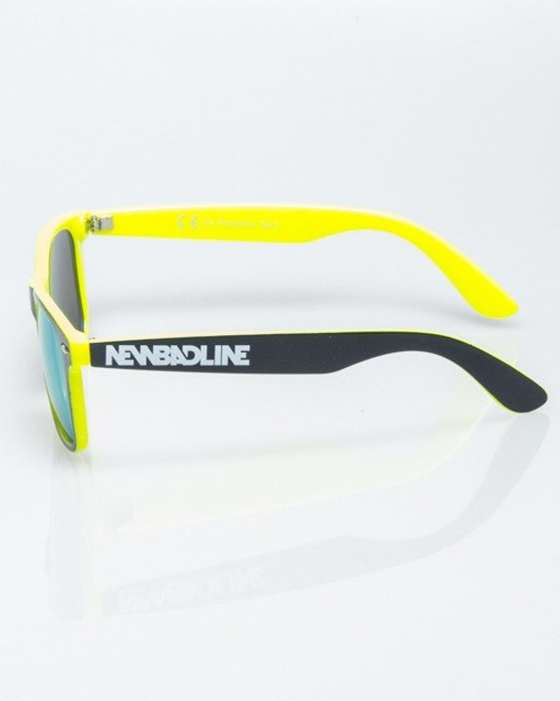 OKULARY CLASSIC INSIDE BLACK-NEON FLASH YELLOW MIRROR 1197