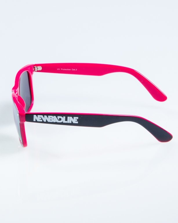 OKULARY CLASSIC INSIDE BLACK-PINK FLASH RED MIRROR 866