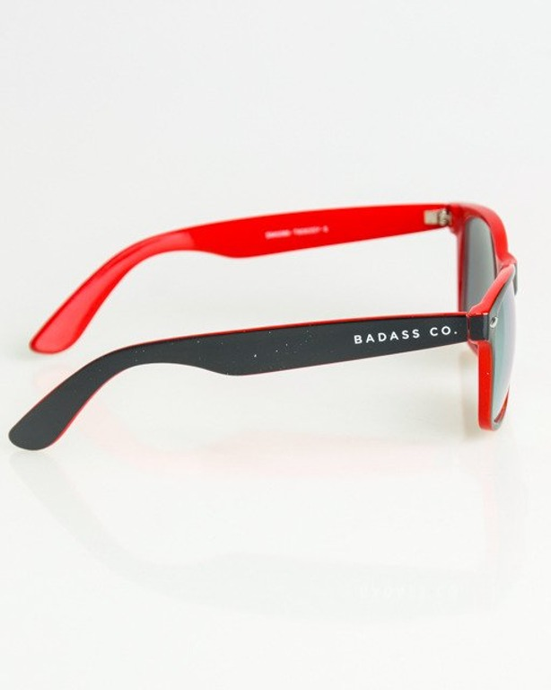 OKULARY CLASSIC INSIDE BLACK-RED FLASH RED MIRROR 1385