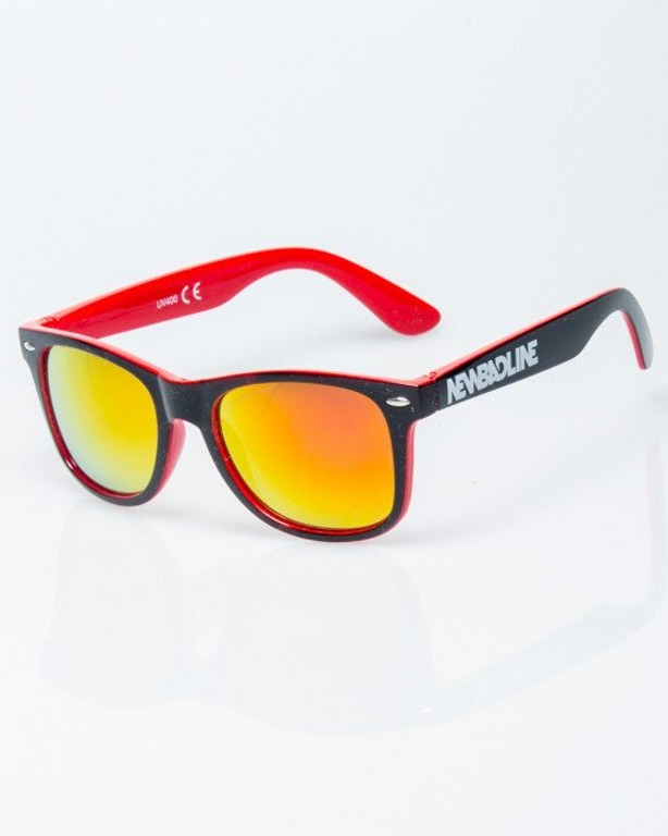 OKULARY CLASSIC INSIDE BLACK-RED FLASH YELLOW-PINK MIRROR 1195