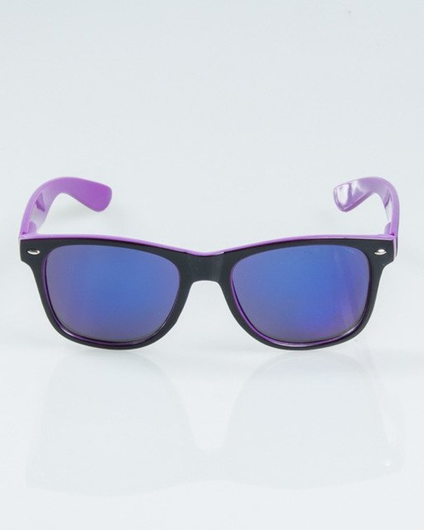 OKULARY CLASSIC INSIDE BLACK-VIOLET FLASH BLUE MIRROR 1169