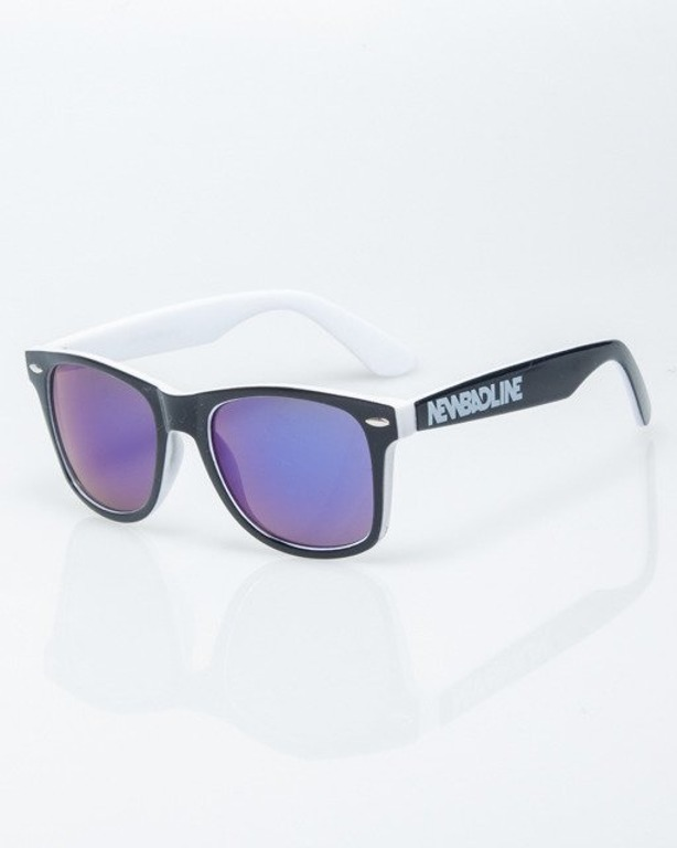 OKULARY CLASSIC INSIDE BLACK-WHITE FLASH NAVY MIRROR 1209