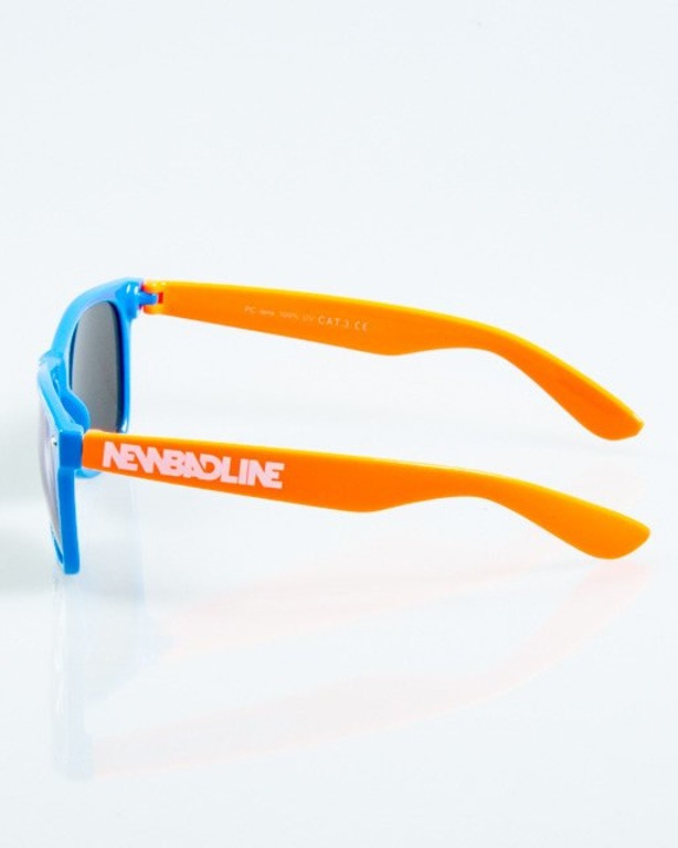 OKULARY CLASSIC INSIDE BLUE-ORANGE FLASH BLUE MIRROR 1044