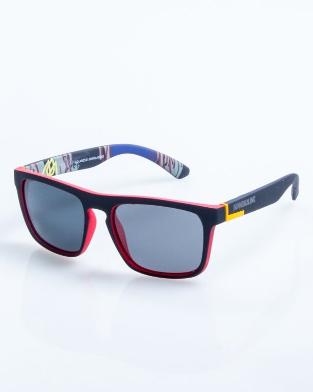 OKULARY COMIX BLACK-RED RUBBER BLACK POLARIZED 825