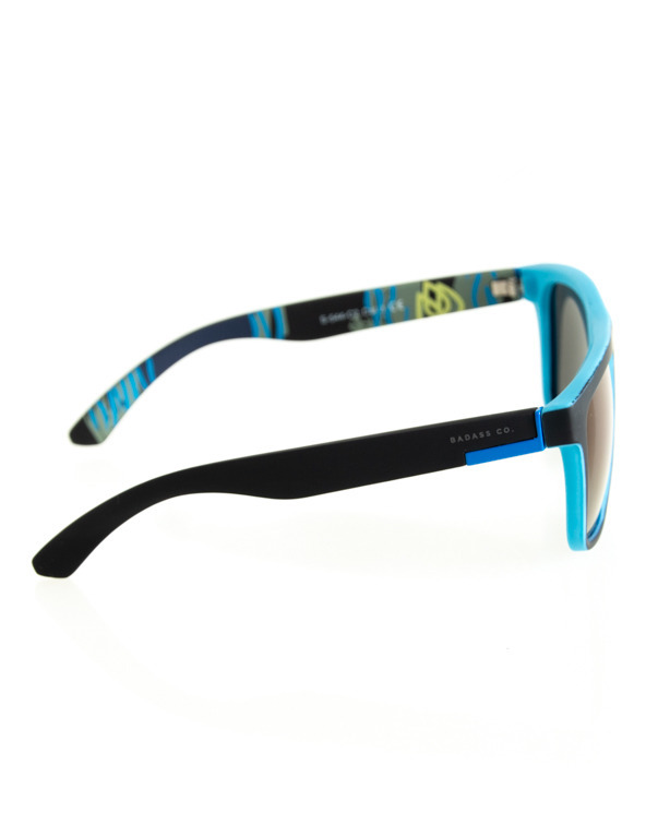 OKULARY COMIX POLARIZED BLACK-BLUE RUBBER BLUE 123