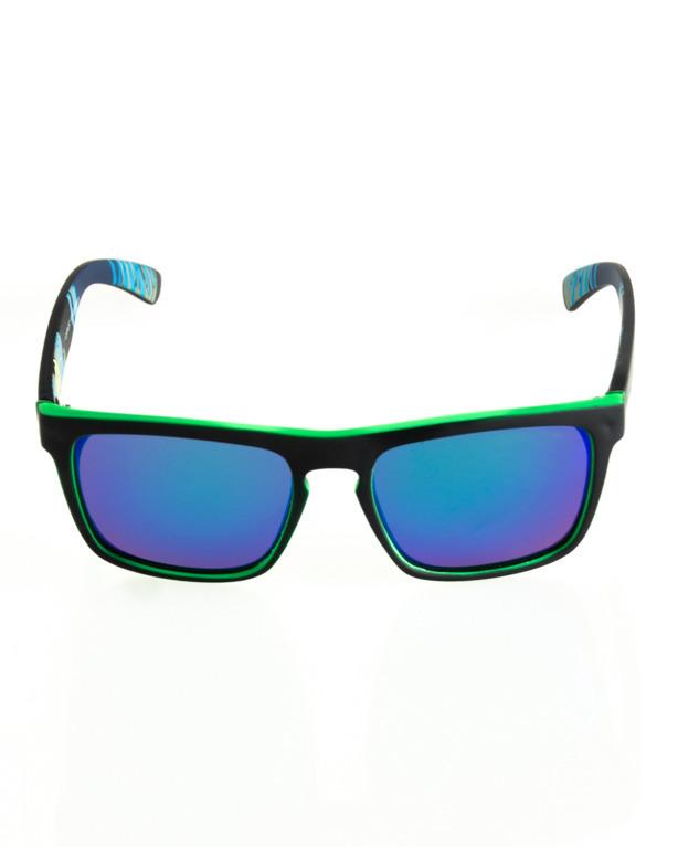OKULARY COMIX POLARIZED BLACK-GREEN RUBBER BLUE 122