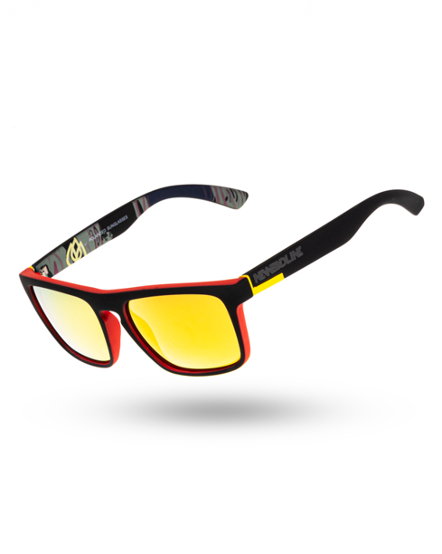 OKULARY COMIX POLARIZED BLACK-RED RUBBER RED MIRROR 00-143