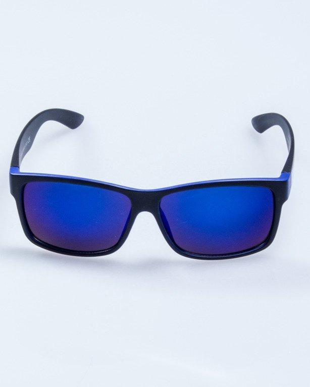 OKULARY CUT BLACK-BLUE MAT BLUE MIRROR 583