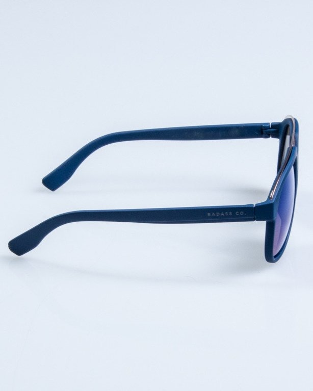 OKULARY ELEGANT  NAVY RUBBER BLUE MIRROR 664