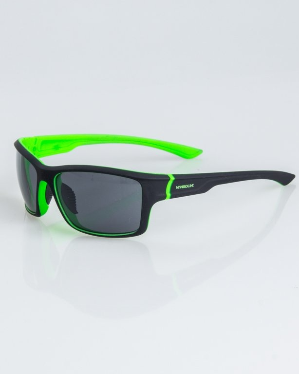 OKULARY EXEMPLAR INSIDE BLACK-GREEN RUBBER BLACK 1238