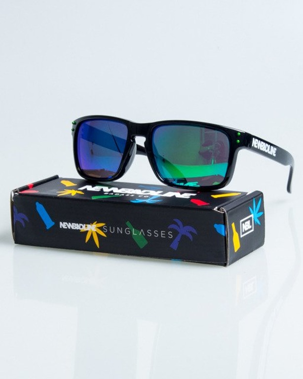 OKULARY FREESTYLE BLACK FLASH GREEN MIRROR POLARIZED 1093