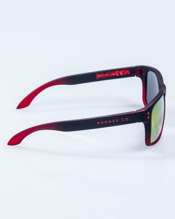 OKULARY FREESTYLE BLACK-RED RUBBER RED MIRROR 652