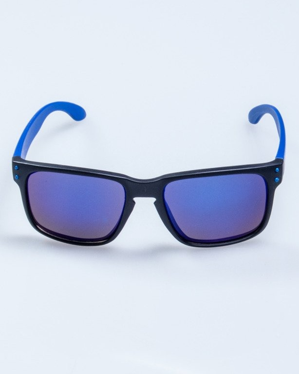 OKULARY FREESTYLE POINT BLACK-BLUE MAT BLUE MIRROR 621