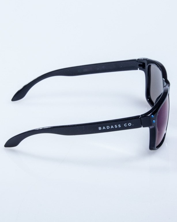 OKULARY FREESTYLE POINT BLACK FLASH BLUE MIRROR 606