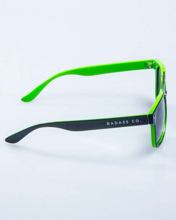 OKULARY HEAT BLACK-GREEN FLASH BLACK POLARIZED 611