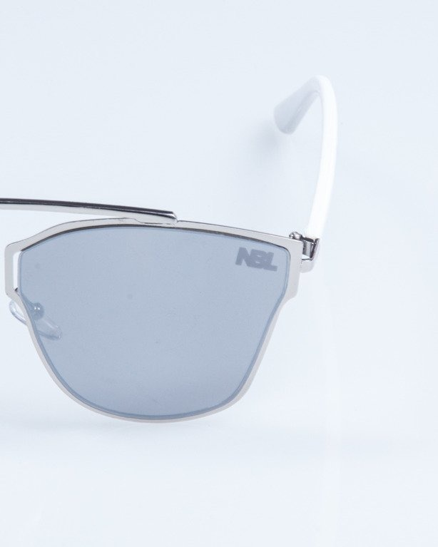 OKULARY LADY FUTURE SILVER GREY MIRROR 719