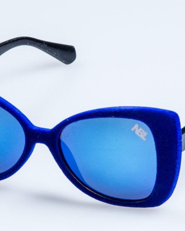 OKULARY LADY ZAMSZ BLACK-BLUE BLUE MIRROR 742