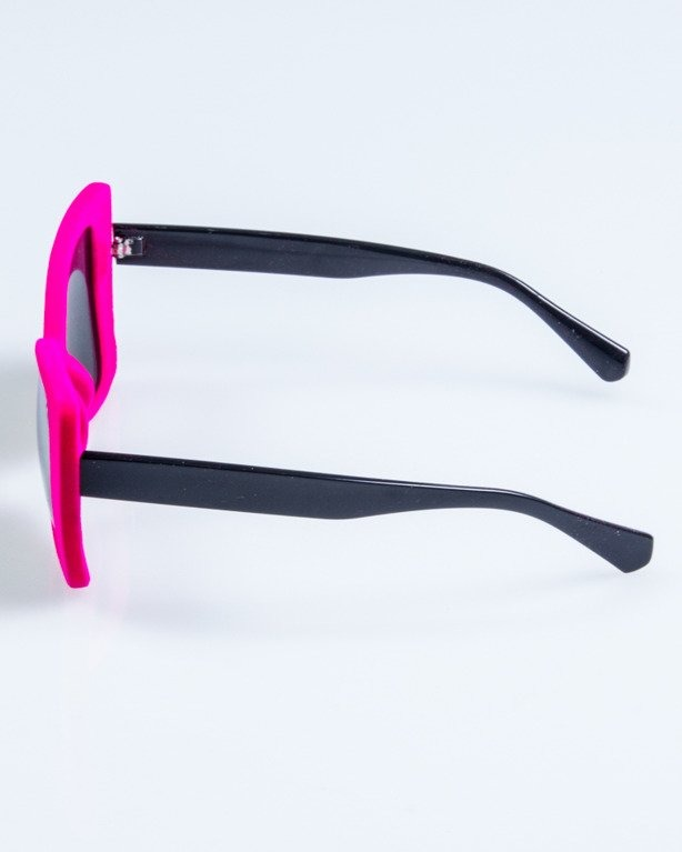 OKULARY LADY ZAMSZ BLACK-PINK RED MIRROR 740