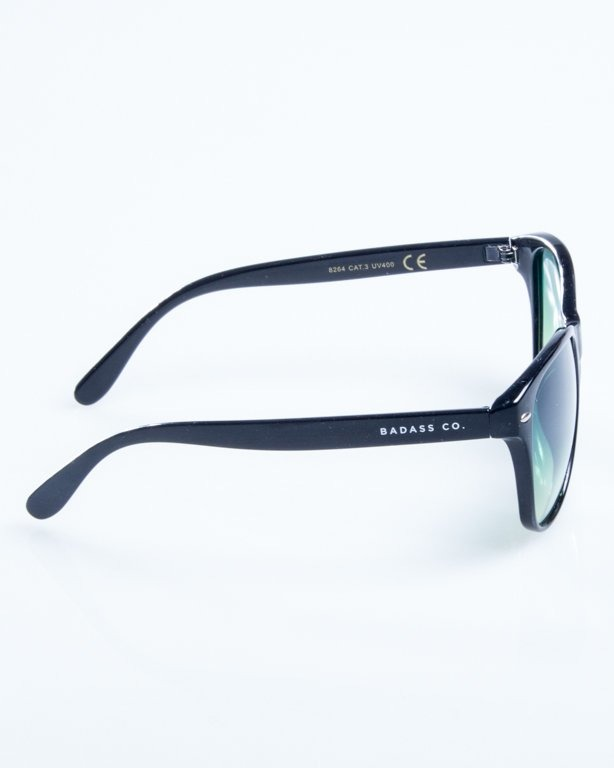 OKULARY LAZY BLACK FLASH GREEN 776