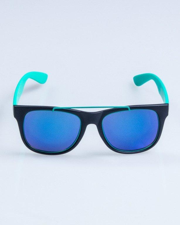 OKULARY NEW CLASSIC BLACK-MINT MAT BLUE MIRROR 658