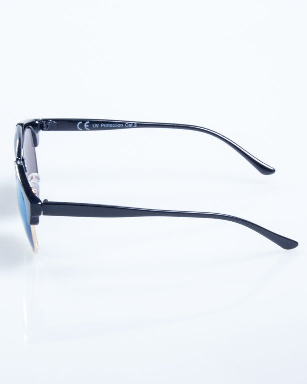 OKULARY NIGHT BLACK BLUE MIRROR 808