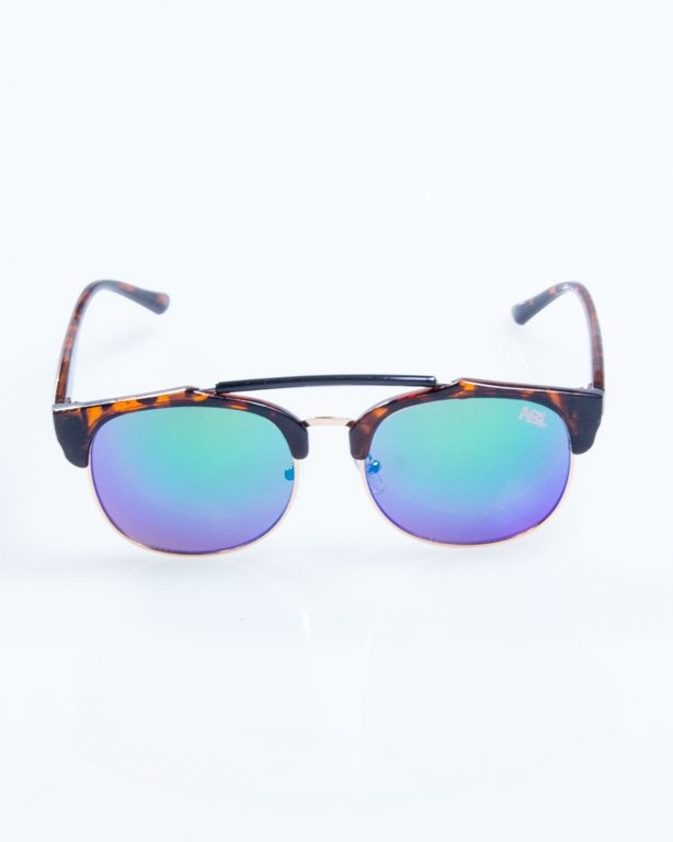 OKULARY NIGHT BROWN PANTERA GREEN MIRROR 802