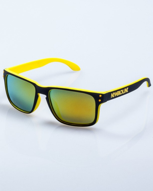 OKULARY POINT BLACK-YELLOW RUBBER YELLOW MIRROR POLARIZED 522