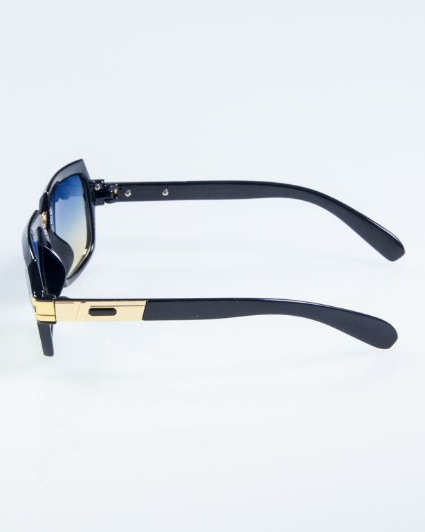 OKULARY RICH BLACK FLASH BLUE-YELLOW 798