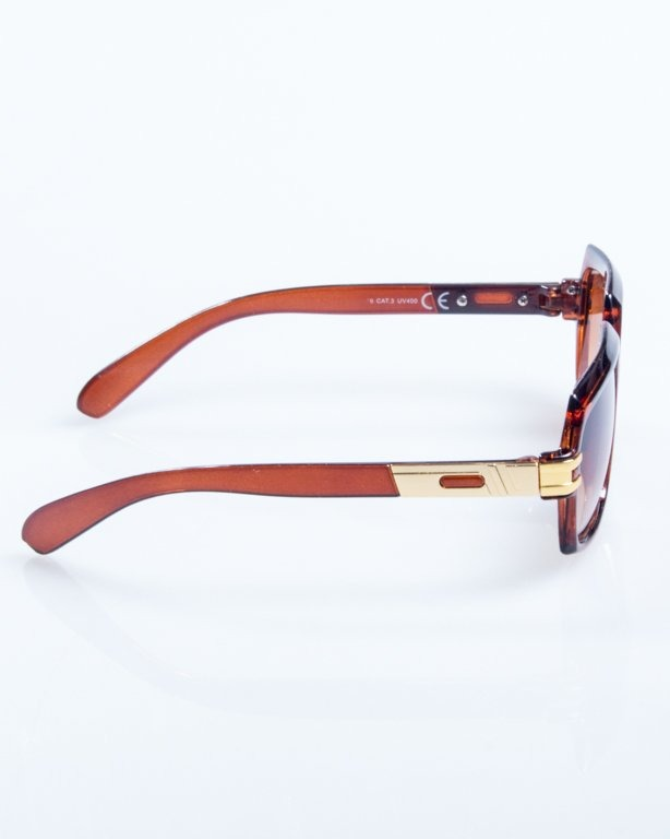 OKULARY RICH BROWN FLASH BROWN 801