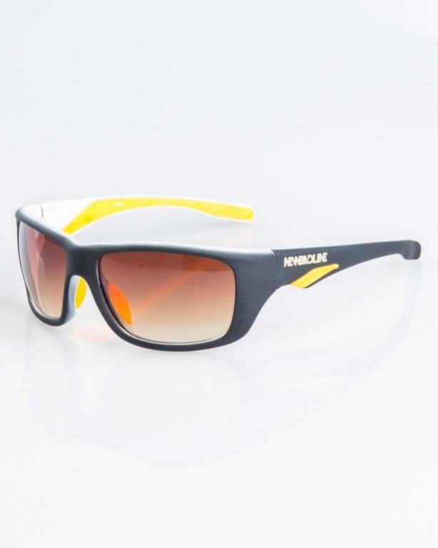 OKULARY SPEED BLACK-WHITE RUBBER BROWN 1251