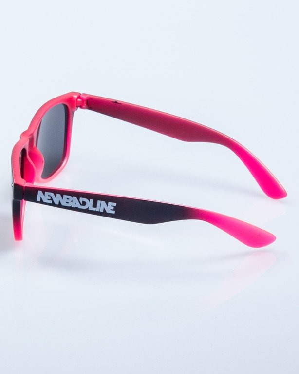 OKULARY TONAL BLACK-PINK RED MIRROR 576