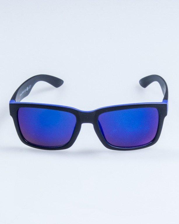 OKULARY TRAP BLACK-BLUE MAT BLUE MIRROR 764