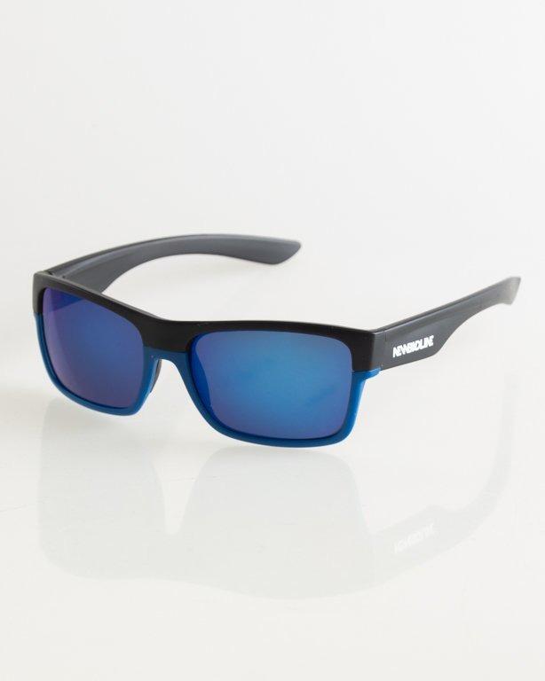 OKULARY TWO TONE BLACK-BLUE MAT BLUE MIRROR 020