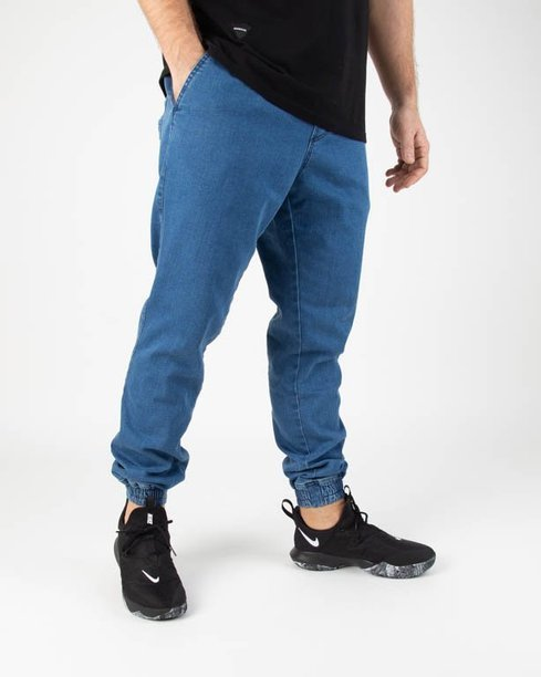 SPODNIE JEANS JOGGER ICON LIGHT BLUE